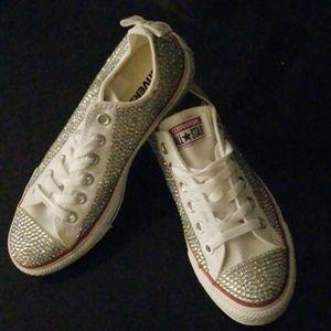 Ladies silver sparkle Converse